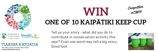 Tell us what you did in conservation activity thie year and win one of our keep cup
